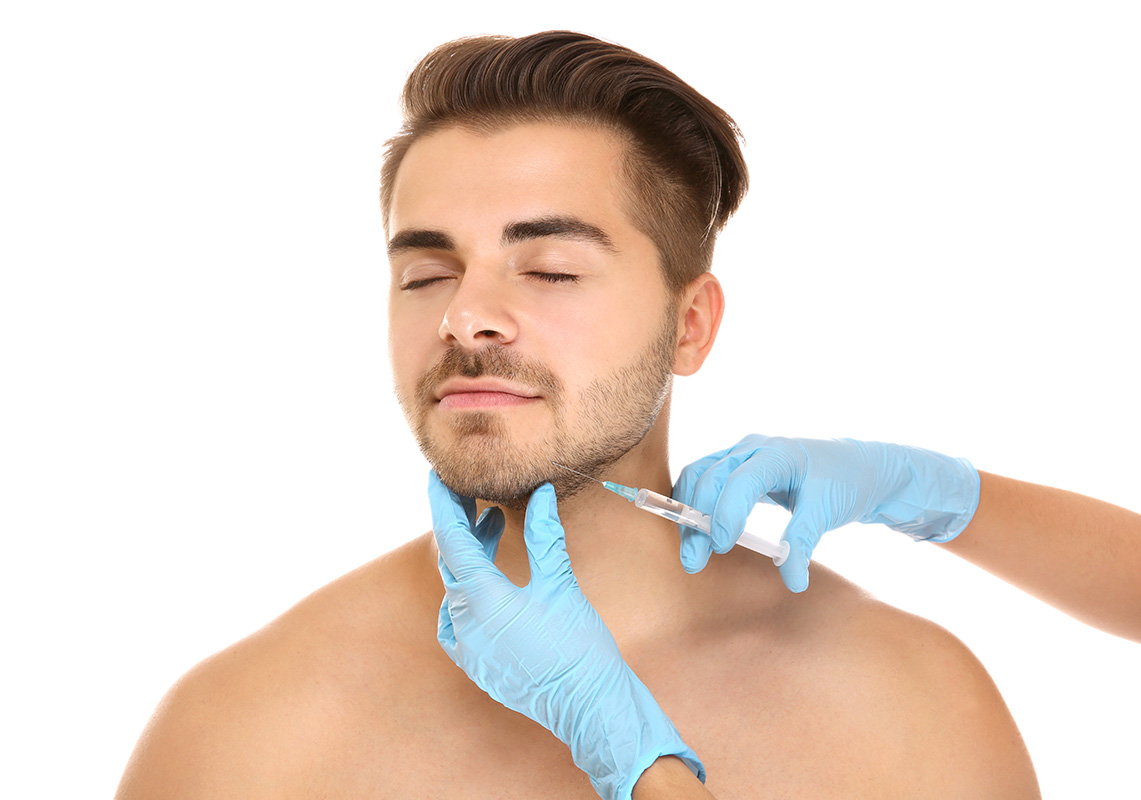 Remove wrinkles on chin ( Derma Filler for men )