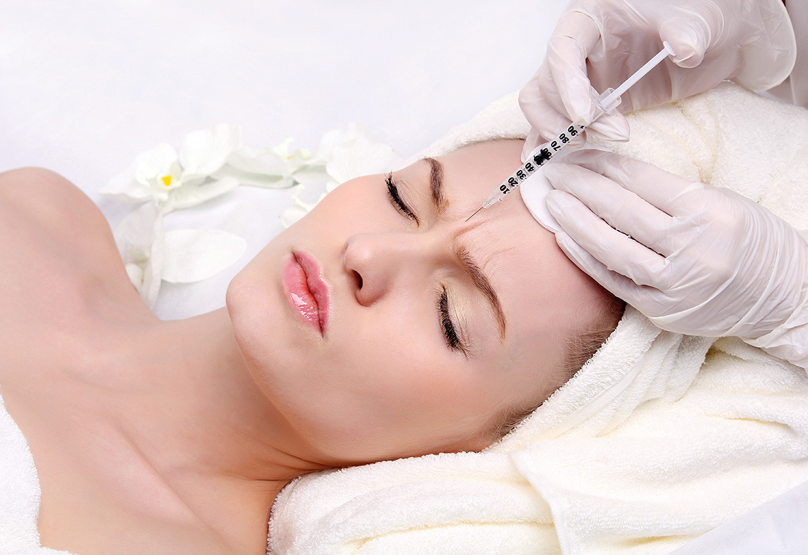 Woman Botox for Frown Lines